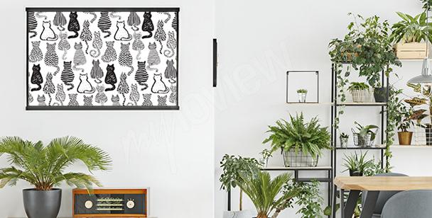 Poster chat pour salon