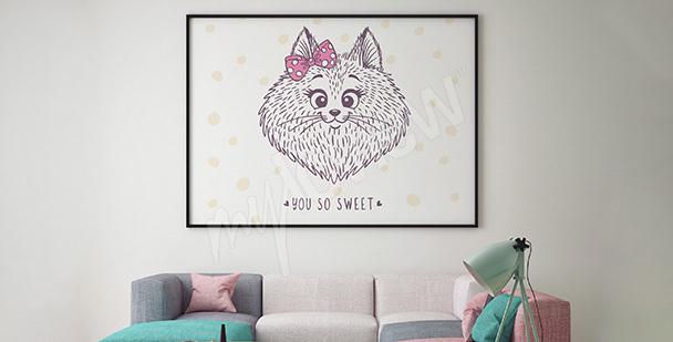 Poster chat pour une chambre de fille