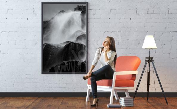Poster chute d'eau agitée