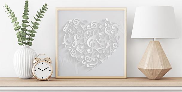 Poster cœur avec notes
