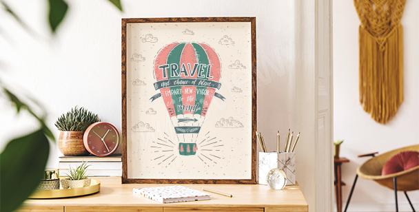 Poster coloré montgolfière
