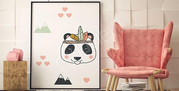 Poster coloré panda