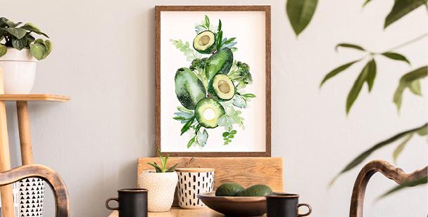 Poster composition végétale
