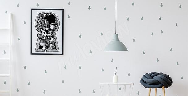 Poster conte de fées en noir et blanc
