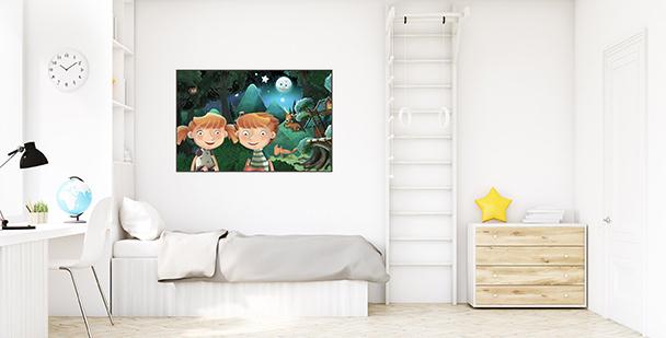 Poster conte pour chambre d'enfant