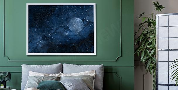 Poster cosmos pour chambre à coucher
