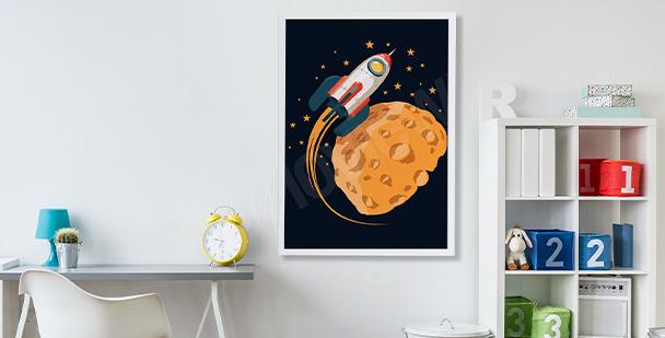 Poster phases de la Lune