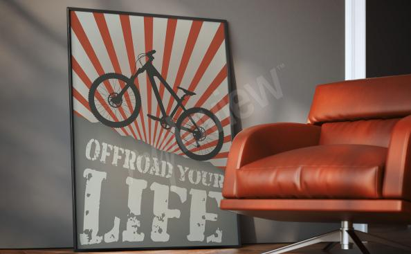 Poster cyclisme pour chambre d'ado