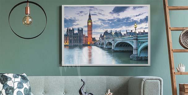 Poster de Londres au coucher du soleil