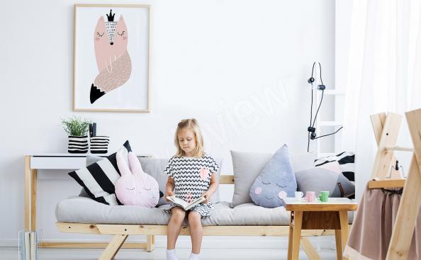 Poster de style scandinave avec un renard