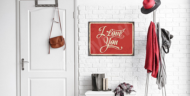 Poster déclaration d'amour