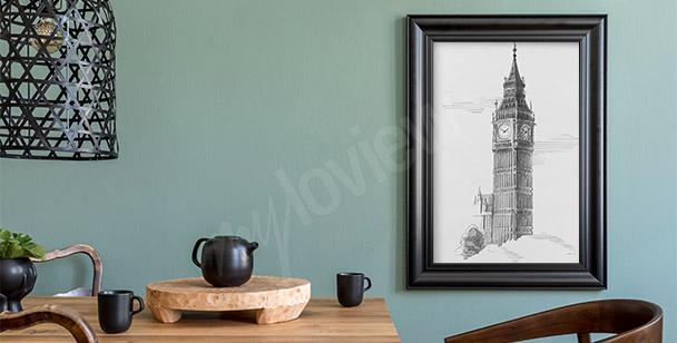Poster dessin Big Ben