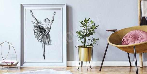 Poster dessin danseuse