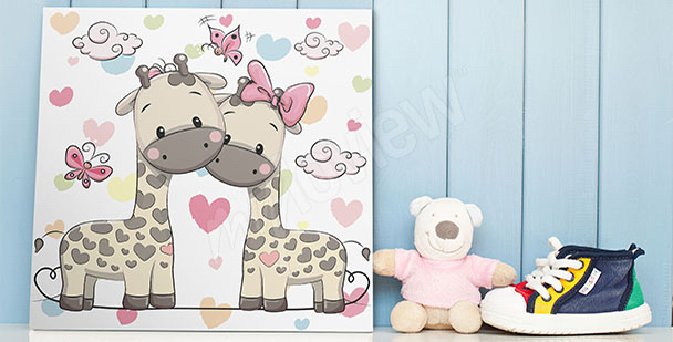 Poster deux girafes