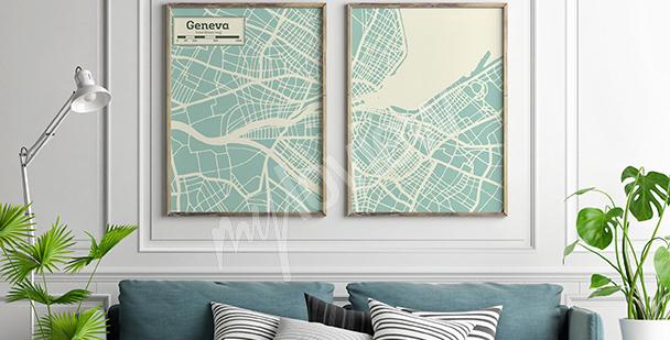 Poster diptyque minimaliste