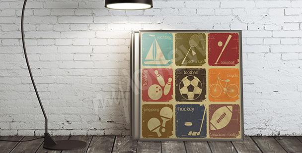 Poster disciplines de sport