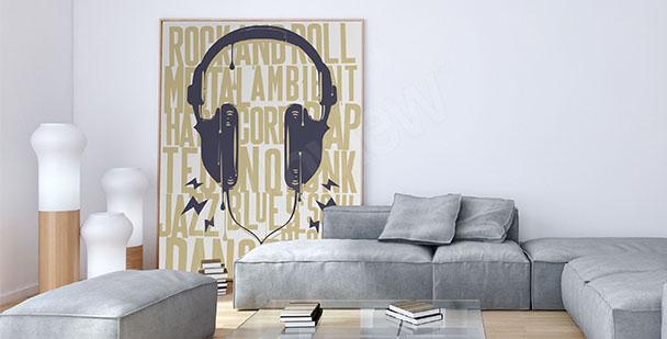 Poster écouteurs et inscriptions