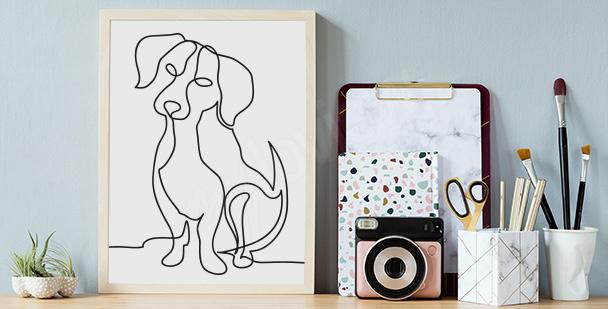 Poster esquisse de chien