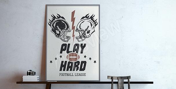 Poster football américain
