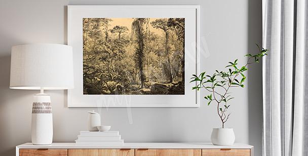 Poster forêt dans le brouillard