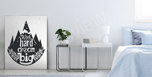 Poster forêt typographie