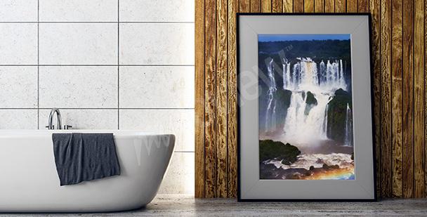 Poster grandes chutes d'eau