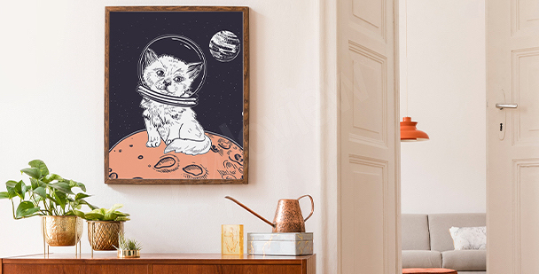 Poster graphique cosmos