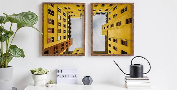 Poster immeuble jaune à Berlin
