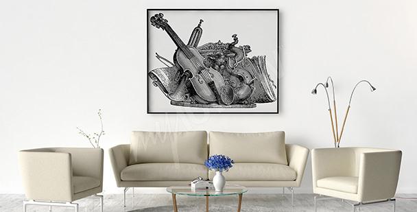 Poster instruments de musique vintage
