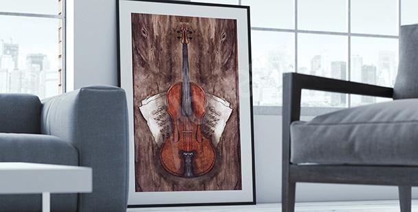 Poster instruments: violon