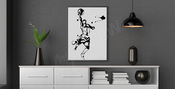 Poster joueur de NBA