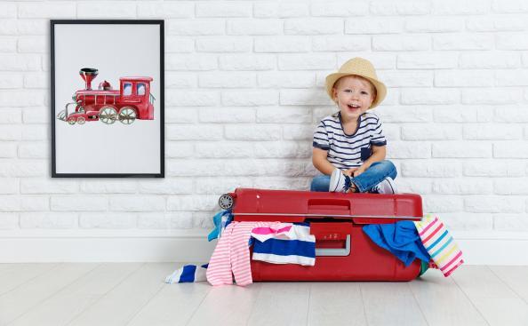 Poster locomotive pour enfant