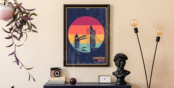 Poster Londres style rétro