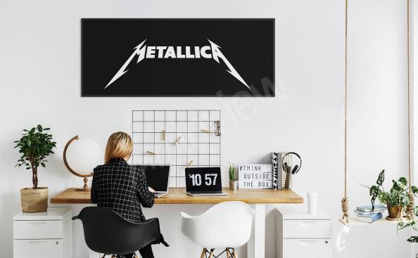 Poster Metallica noir et blanc
