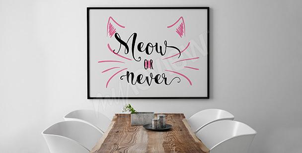 Poster minimaliste avec un chat