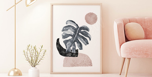 Poster minimaliste monstera