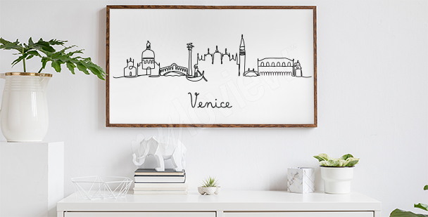 Poster minimaliste Venise