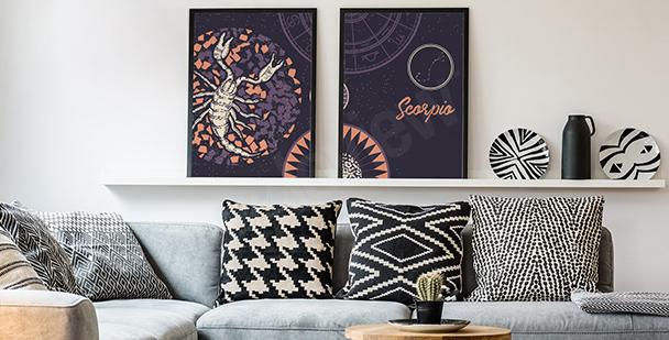 Poster moderne avec un scorpion