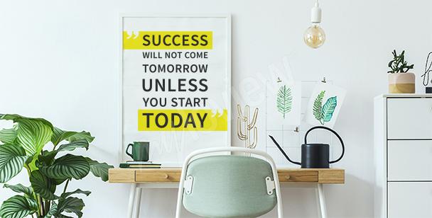 Poster moderne avec une citation