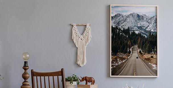 Poster sommet vert de montagne