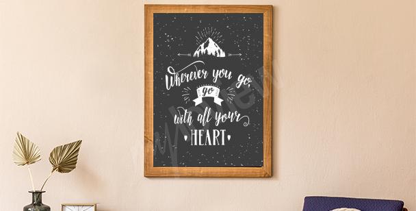 Poster montagne et forêt