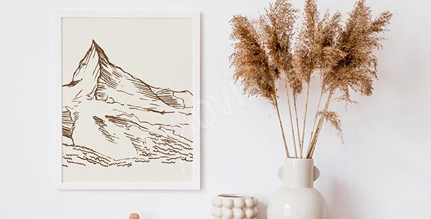 Poster lac et montagnes