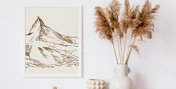 Poster montagne minimaliste