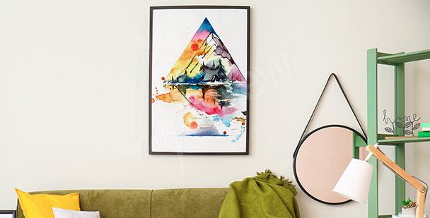 Poster montagne version aquarelle