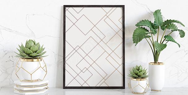 Poster motif géométrique