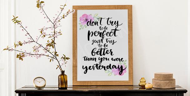 Poster motivation et inspiration