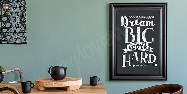 Poster motivation noir et blanc