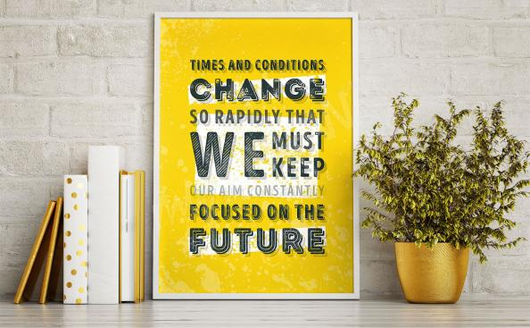 Poster motivation sur fond jaune