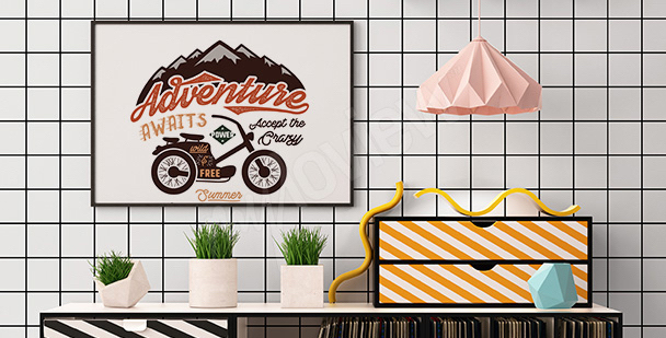 Poster moto rétro pour salon