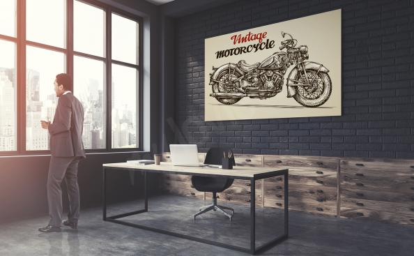 Poster moto vintage